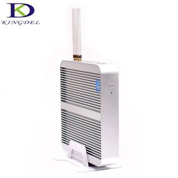 팬리스 htpc 미니 pc 인텔 코어 i5 7200u 듀얼 코어 인텔 hd 그래픽 620 4 k hdmi usb 3.0 vga 300 m wifi dhl 무료 nc240