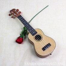 Soprano Ukulele 21 Inch Mini Hawaiian Guitar Senior Picea Asprata 4 Strings Ukelele Guitarra Handcraft Wood White Uke