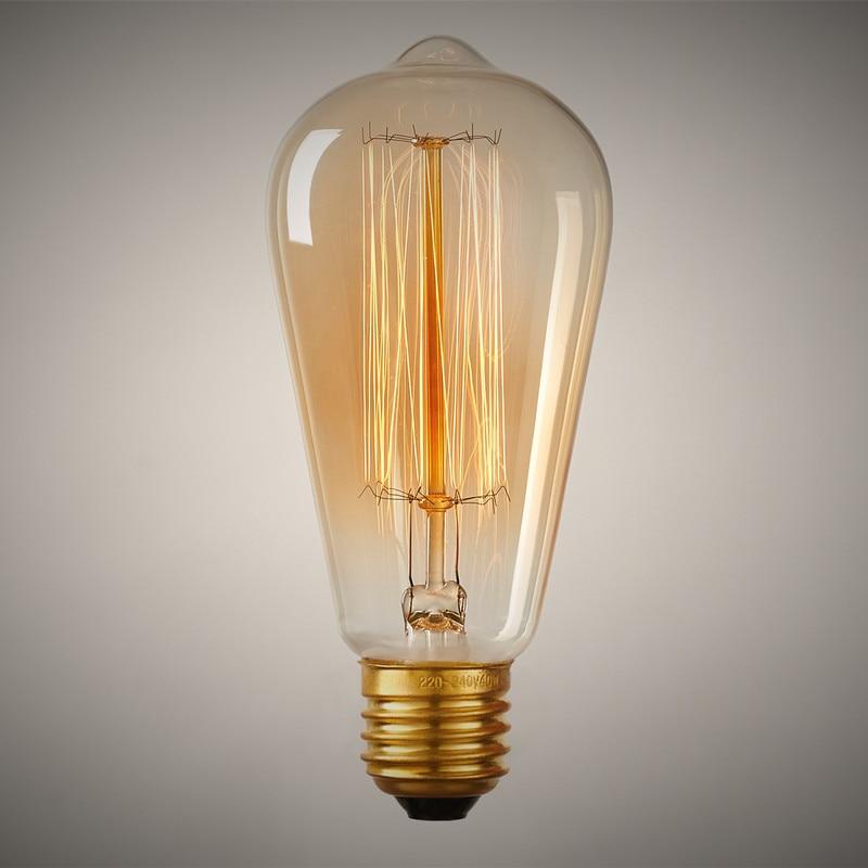 Buy B22 110v 220v 40w Candle Vintage Edison Filament: Aliexpress.com : Buy Edison Vintage Bulb ST64 110V 40W 60W