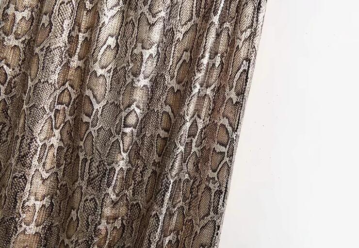 Autumn and Winter Snake Print Long Skirt Sequined High Waist Skirt Lady Fashion Streetwear 14