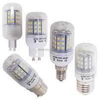 E27 e14 e12 b22 led Bombilla de maíz 5730 smd luz maíz 2835 SMD 220V vela e14 led Bombilla fría blanco cálido blanco GU10 G9