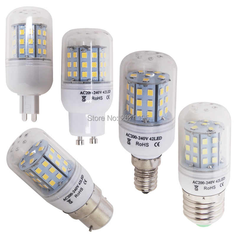 e27 e14 e12 b22 led corn bulb 5730 smd light corn 2835 SMD 220V Candle e14 led bulb cold white warm white GU10 G9