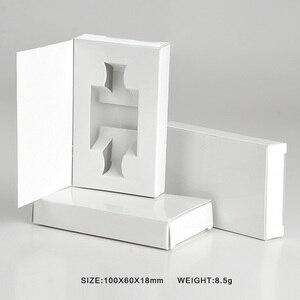 Image 2 - Boîtes en papier personnalisables 5ML, 100 pièces/lot, bouteille de Parfum en verre avec atomiseur, emballage de Parfum vide, LOGO personnalisable, cadeau