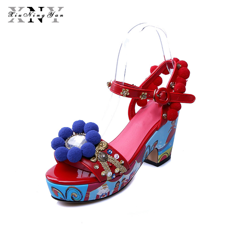 XiuNingYan 2018 Fashion Ankle Strap Heels Women's Sandals Summer Shoes Women Open Toe High Heels Sandals Party Dress Shoes Woman bigtree new summer shoes woman sandals high heels fashion open toe sandals women sexy ankle strap sandalias clothing party shoes