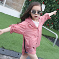 2017 Fashion Girl's Sun Protection Coat Teens Summer Clothing Translucent Children's Clothing Hooded Overcoat for Girl