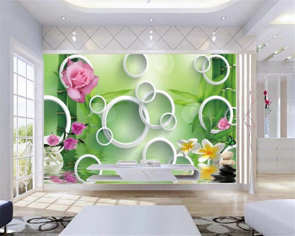 Beibehang Custom Wallpaper Home Decorative Mural 3d Green Bamboo ...