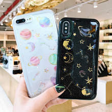 Glitter Alam Semesta Planet Soft Case untuk Samsung Galaxy A6 2018 Cover A3 A5 2017 Case J3 J6 J8 J7 A7 2018 A750 J530 J5 J3 J7 2017(China)