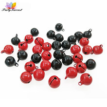 10pcs/lot Metal Jingle Bell Red Black Christmas Decoration Charms Pendant for Pet Key Ring DIY Handmade Crafts Party Decoration(China)