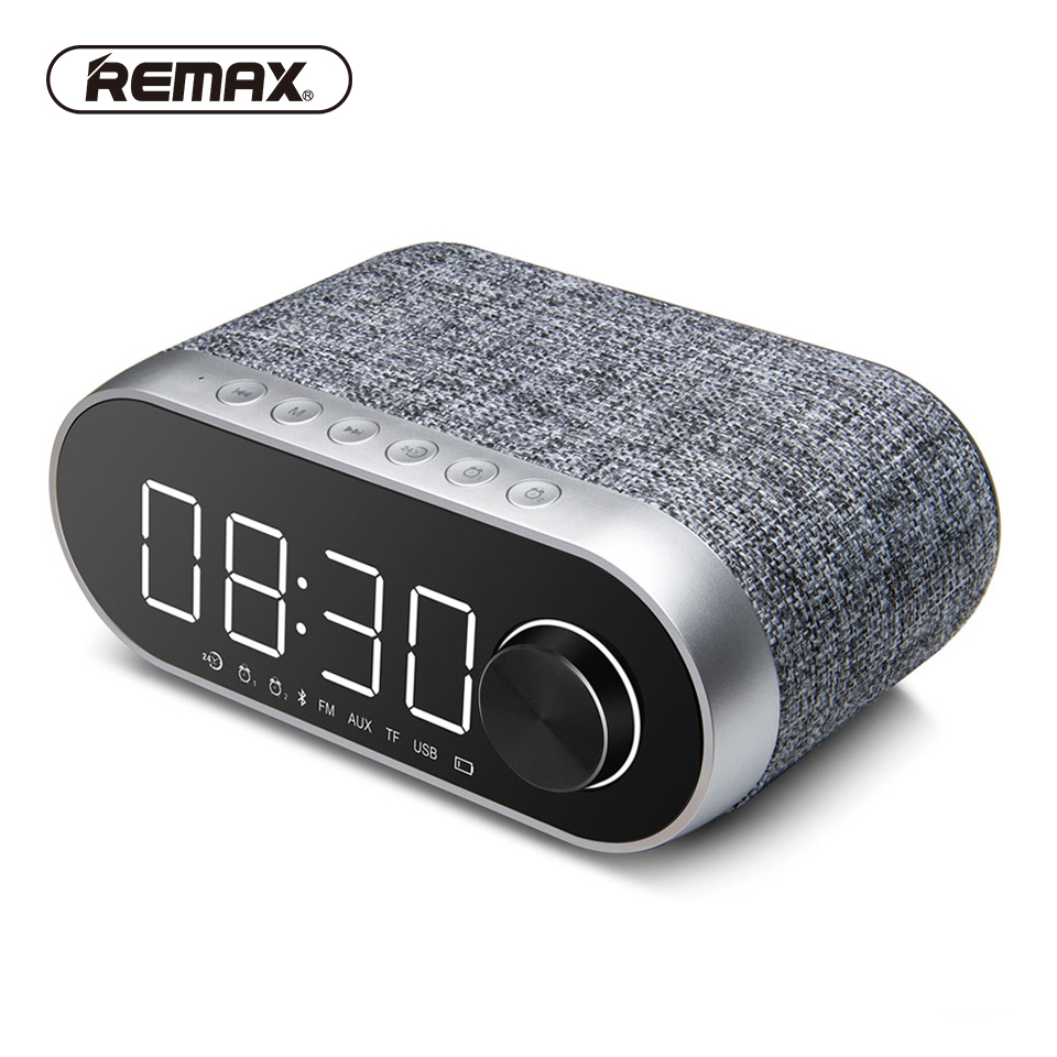 REMAX Bluetooth Portable Speaker Alarm Clock Radio 3 In 1 Wireless Stereo USB TF High Definition Sound Speakers for Pc/phone wireless bluetooth speaker led audio portable mini subwoofer