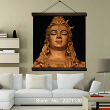 Cute Shiva HD Print Scroll Paintings Wall Art Printed Hanging Framed Canvas Painting Modern Home Decoration