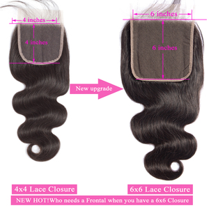 Image 3 - Big 6x6 Closure And Bundles Queenlike Hair Brazilian Body Wave With 6*6 Lace Closure Remy 3 Human Hair Bundles With Closure