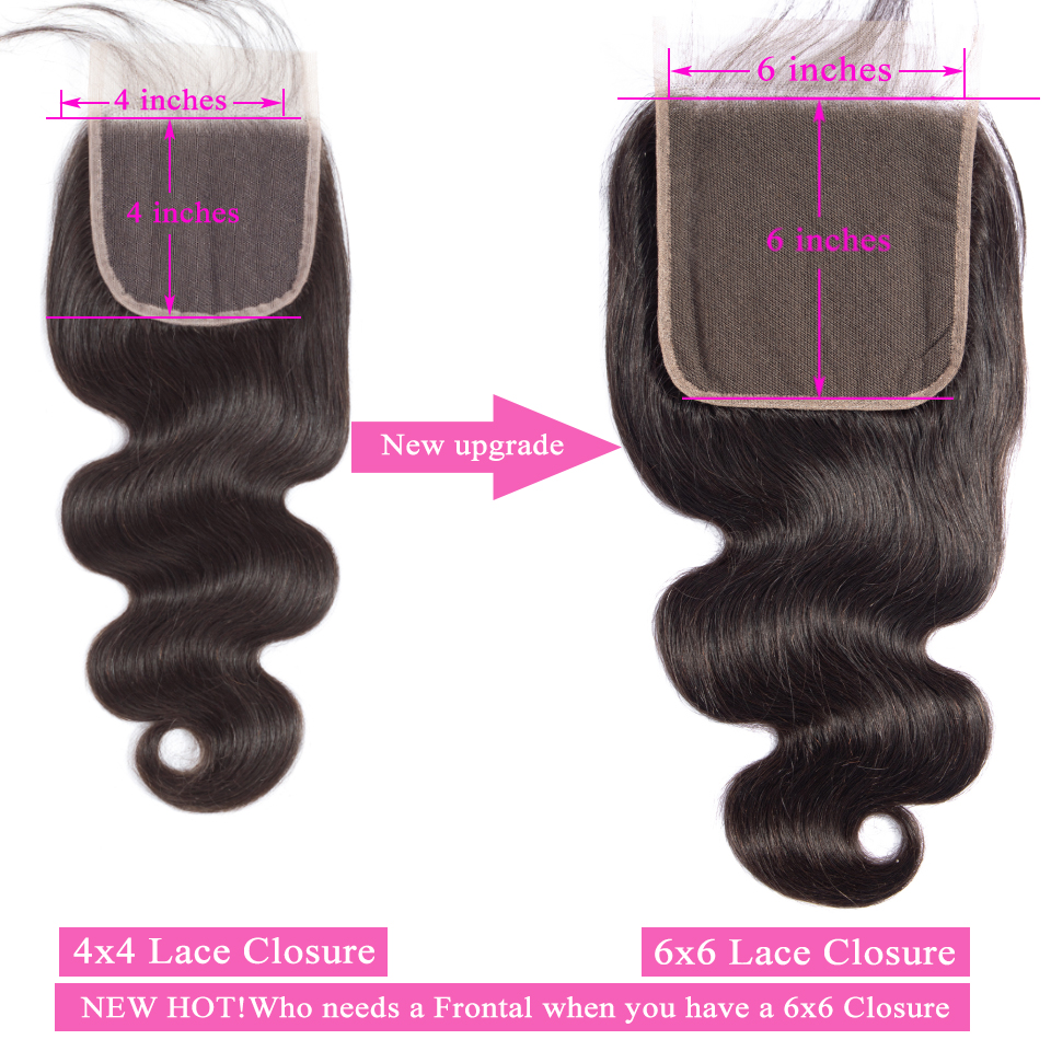 Queenlike Hair 3 Bundles Brazilian Body Wave With 6x6 Big Lace Closure Double Weft Non Remy Queenlike Hair 3 Bundles Brazilian Body Wave With 6x6 Big Lace Closure Double Weft Non Remy Human Hair Bundles With Closure