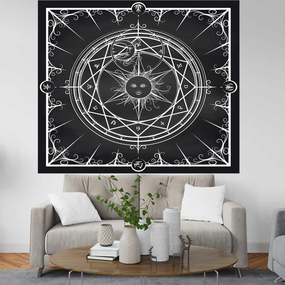 Psychedelic tapestry บทคัดย่อ devil eyes สติ๊กเกอร์ติดผนังผ้าห่ม tarot tapestry mandala ผ้าระบายอากาศผ้าเช็ดตัวชายหาดโบฮีเมียนแขวนผนัง