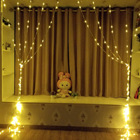 Stream curtain string light waterfall lamp 3x3M EU Plug 220V water flow holiday Light TV background decoration Fairy Light