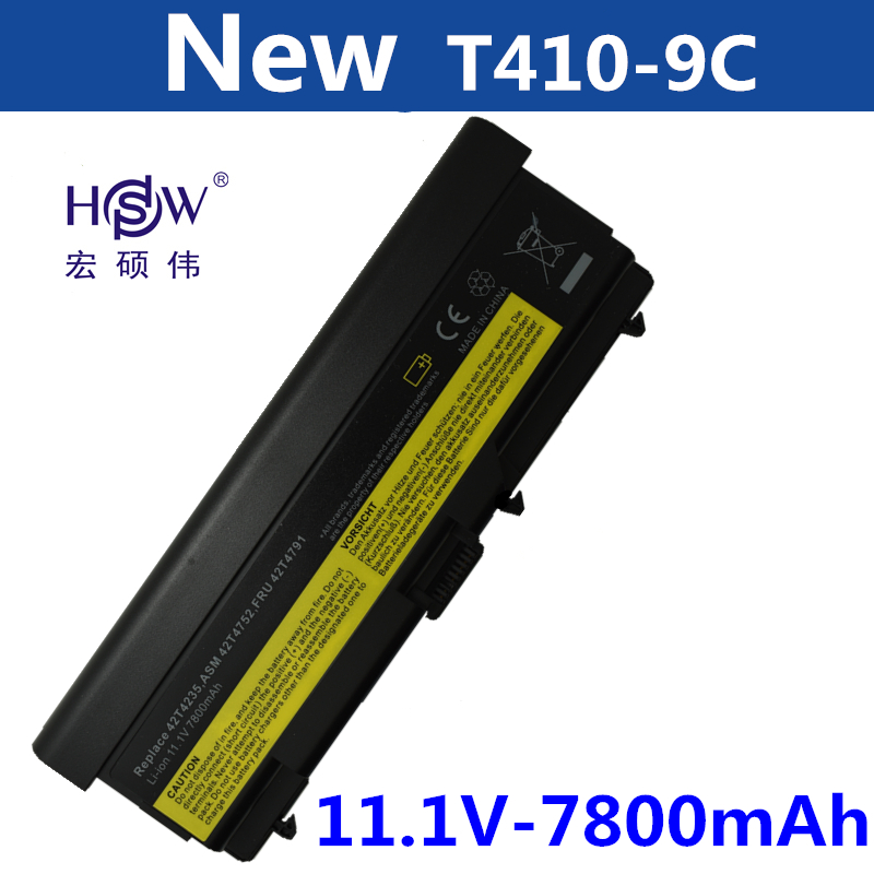 HSW 7800MAH laptop Battery For Lenovo ThinkPad L410 L412 L420 L421 L510 L512 L520 SL410 SL410k SL510 T410 T410i T420 T510 T520