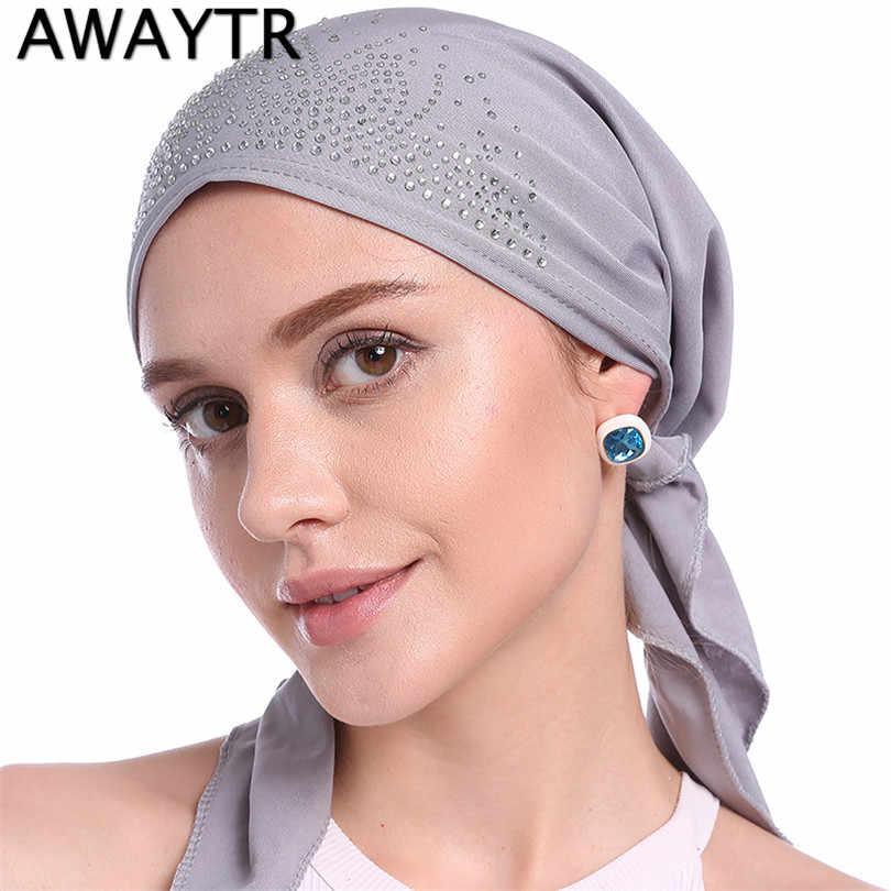 Женская головная повязка AWAYTR, демисезонный шарф на голову, головной платок, повязка на голову, бандана из джерси, 2019