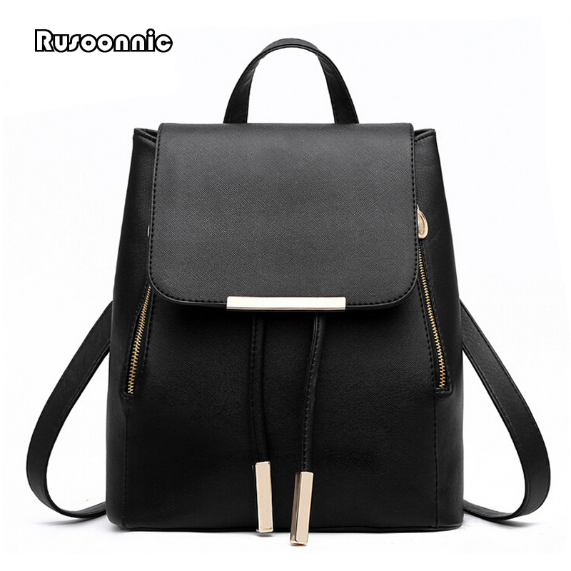 Backpack Women Leather Backpacks High Quality Pu Bagpack Mochila Feminina Rucksack Female School Bags 2016new rucksack luxury backpack youth school bags for girls genuine leather black shoulder backpacks women bag mochila feminina