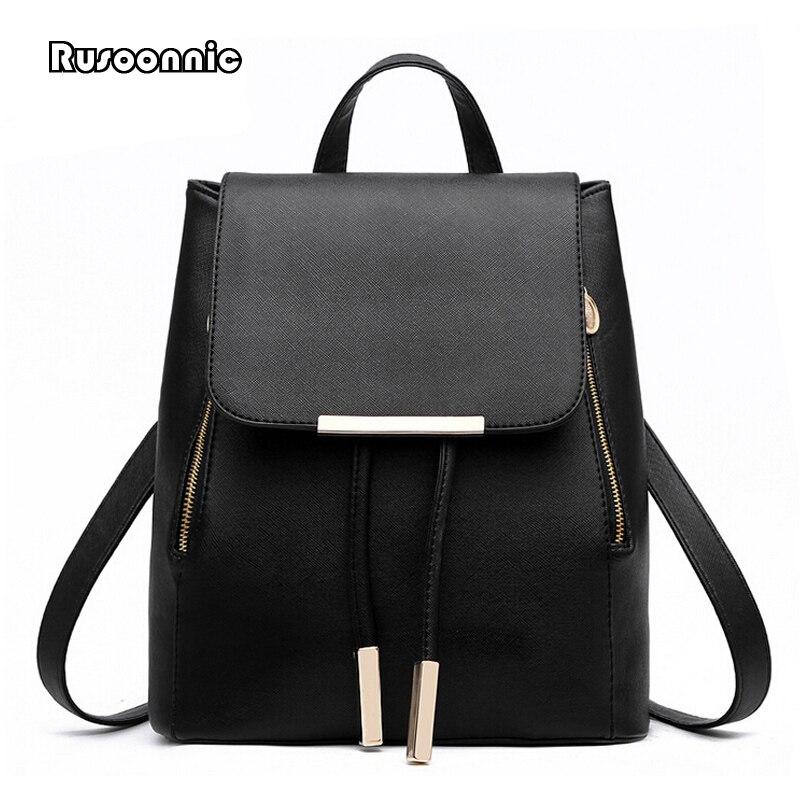 Mochila feminina mochilas de couro de alta qualidade pu bagpack mochila feminina sacos de escola do sexo feminino