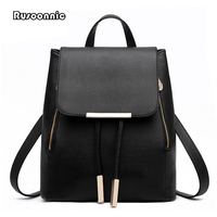 Backpack Women Leather Backpacks High Quality Pu Bagpack Mochila Feminina Rucksack Female School Bags