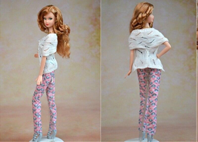 Ručno izrađena lutka Accesssories Pleteni džemper kaput za Barbie - Lutke i pribor - Foto 3