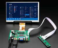 7''HD pantalla TFT LCD Monitor con Control remoto controlador Control 2AV HDMI VGA para Lattepanda Raspberry Pi Banana Pi