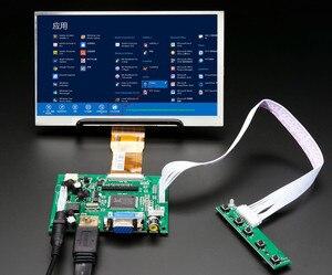7''HD Screen Display LCD TFT Monitor with Remote Driver Control Board 2AV HDMI VGA for Lattepanda,Raspberry Pi Banana Pi(China)