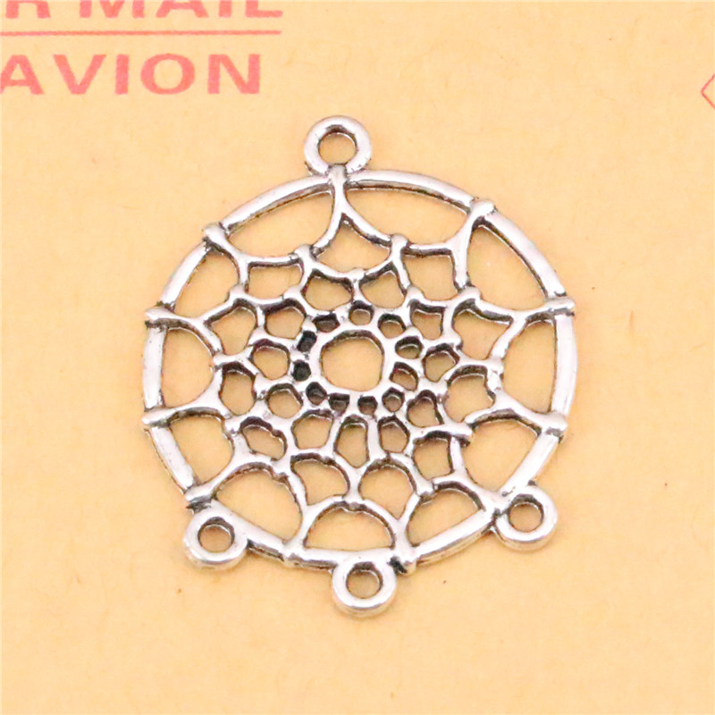 12pcs tibetan silver plated american dream catcher chandelier 12pcs tibetan silver plated american dream catcher chandelier charms pendants for jewelry making diy handmade craft 3428mm in charms from jewelry mozeypictures Gallery