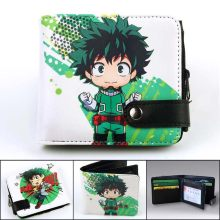 cute anime wallet Pokemon/Naruto/One Piece/my hero academia wallet Card Holder Coin Pocket Zipper & Hasp(China)
