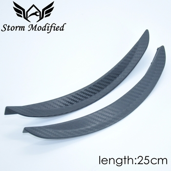 SuTong 1 Pair Carbon Fiber Style Fender Flare Wheel Lip Body Kit Universal 25cm For Car Mudguard Mud Guard Auto Accessories image