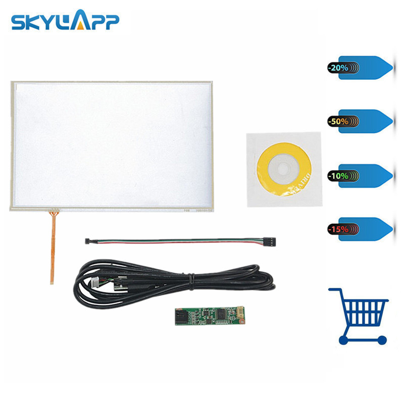 Skylarpu New 10.1 inch 235*143mm 4 Wire Resistive Touch Panel USB Controller For N101N6-L01 Screen touch panel Glass