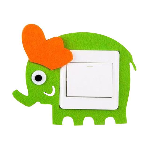 Cute Cartoon Switch Sticker Switch Protective Cover 3d Light Switch