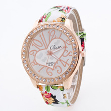 Classic Chinese Style Flower Bling Rehinestone Analog Quartz Wrist Watch Wristwatches for Women Girls Female 6 Styles OP001