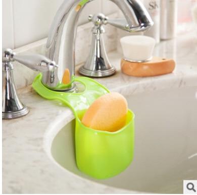 Hot Sale Kitchen Bathroom Sink Sponge Storage Rack Basket Wash Cloth Soap Toiletries Holder Shelf Organizer Kitchen Tool Gadgets