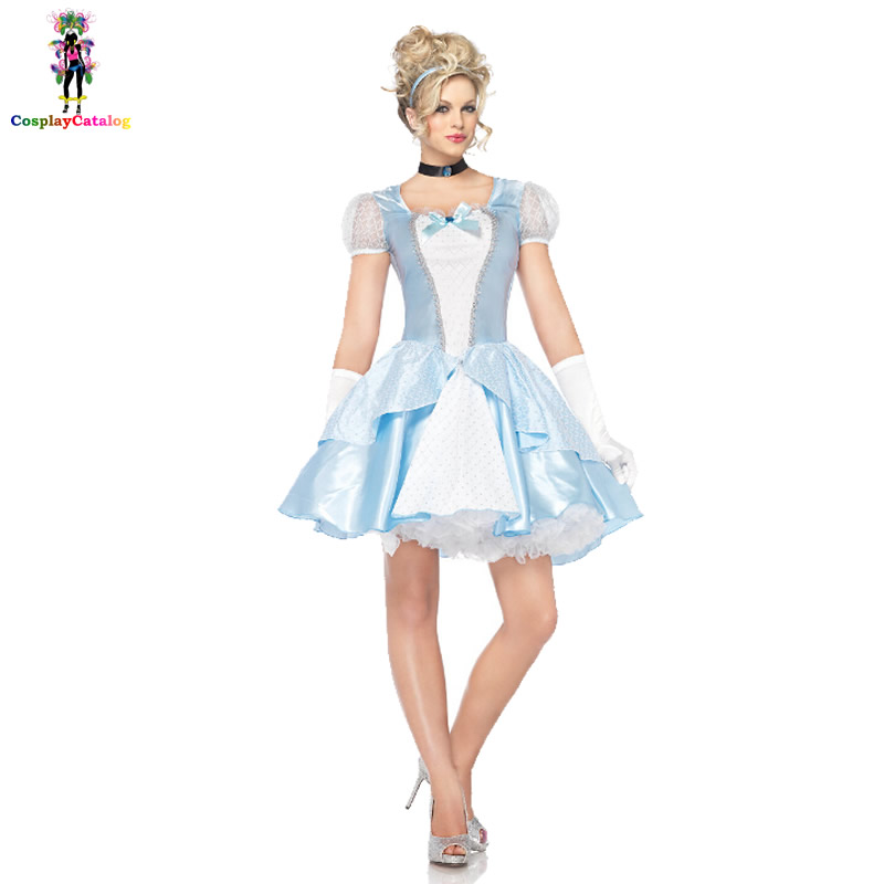 Adult Storybook Sweetie Costume Alice Cute Fancy Princess Dresses Sexy Halloween Adults Women Costumes Size M L