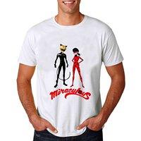 2018 Marca Hombres de la Camiseta de Moda Tops Del O-cuello Camisas Milagrosa Mariquita Anime camisa Corta para hombre Original Tops Novedad