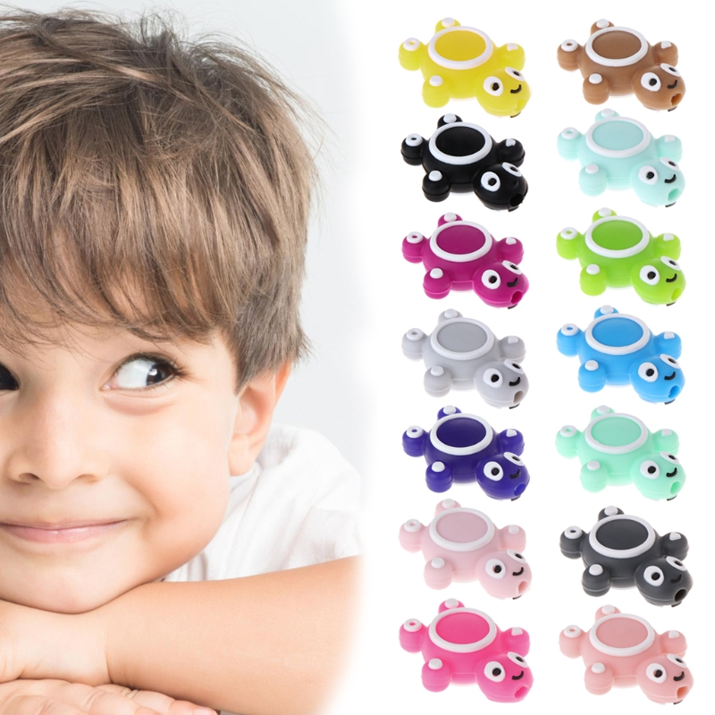Silicone Beads Turtle Cute Funny DIY Jewelry Making Baby Teether Toys Teething