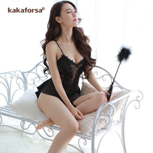 4d9d31c2b Kakaforsa Women Sexy See Through Backless Nightgowns Summer sexy babydolls  V-neck Nightwear Babydoll Nigntdress