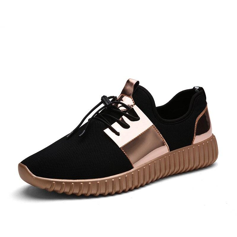 Новинка 2017 года модные повседневные мужские ботинки Для мужчин Обувь Квартиры Кроссовки Обувь с дышащей сеткой для влюбленных Повседневная обувь tenis feminino кроссовки Для мужчин Обувь