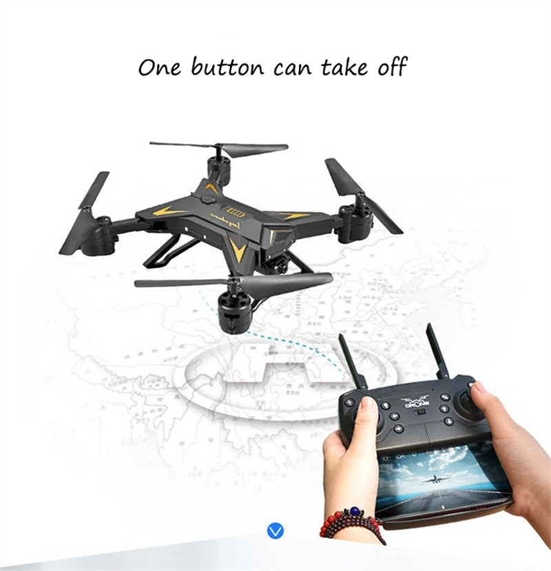RC Helicopter Drone with Camera HD 1080P WIFI FPV Selfie Drone Professional Foldable Quadcopter  Minutes Battery Life 4