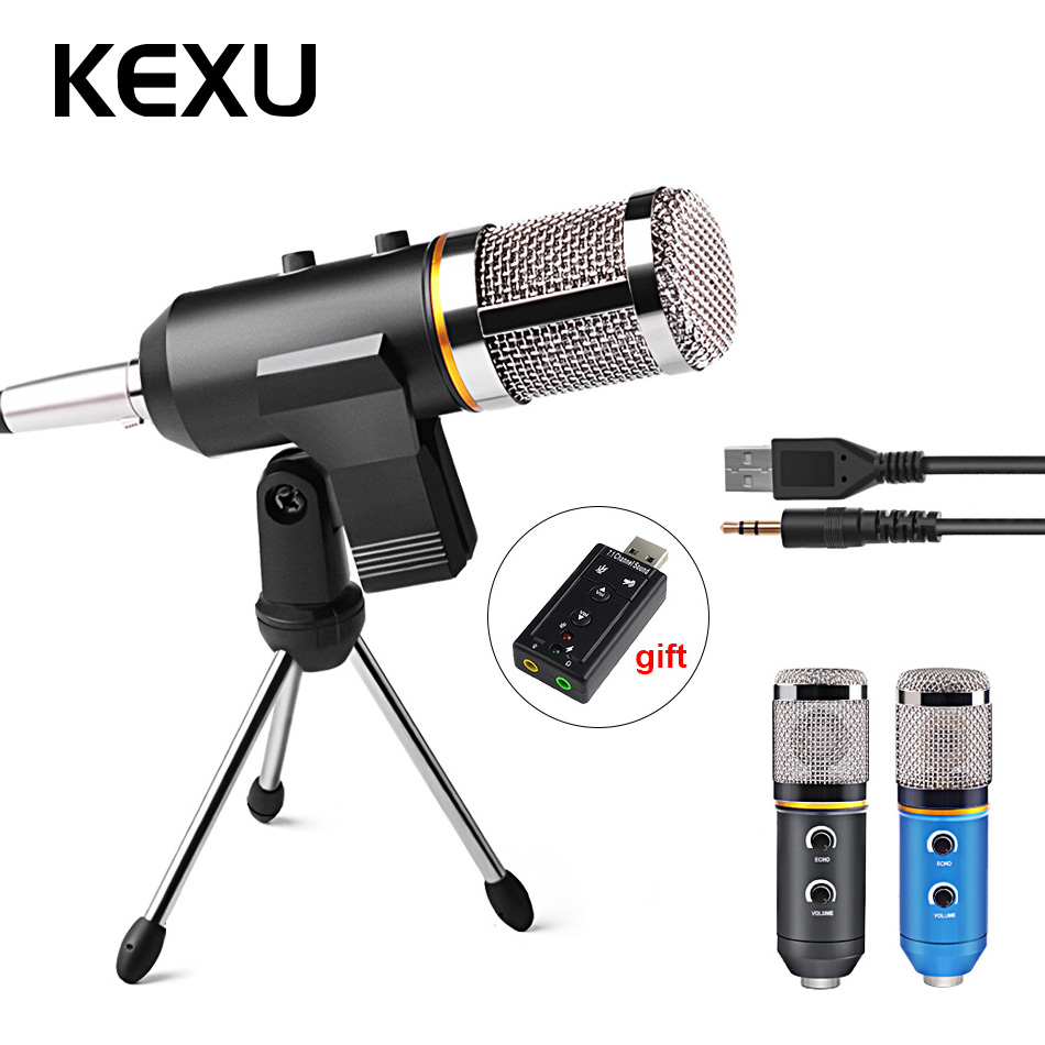 цена на MK-F200TL Professional Microphone USB Condenser Microphone for Video Recording Karaoke Radio Studio Microphone for PC Computer