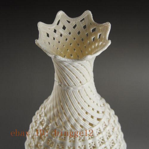 Graži kinų derliaus rankų darbo balta porcelianinė - Namų dekoras - Nuotrauka 3