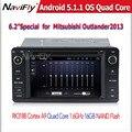 Quad core Android5.11 автомобильный GPS dvd плеер для Mitsubishi outlander lancer asx 2012 2013 2014 радио bluetooth SD USB + Canbus бесплатно