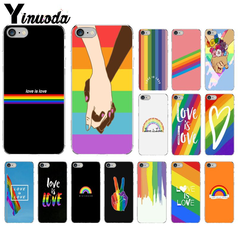 Yinuoda Gay Lesbian LGBT Rainbow Pride Customer High Quality Phone Case for iPhone 8 7 6