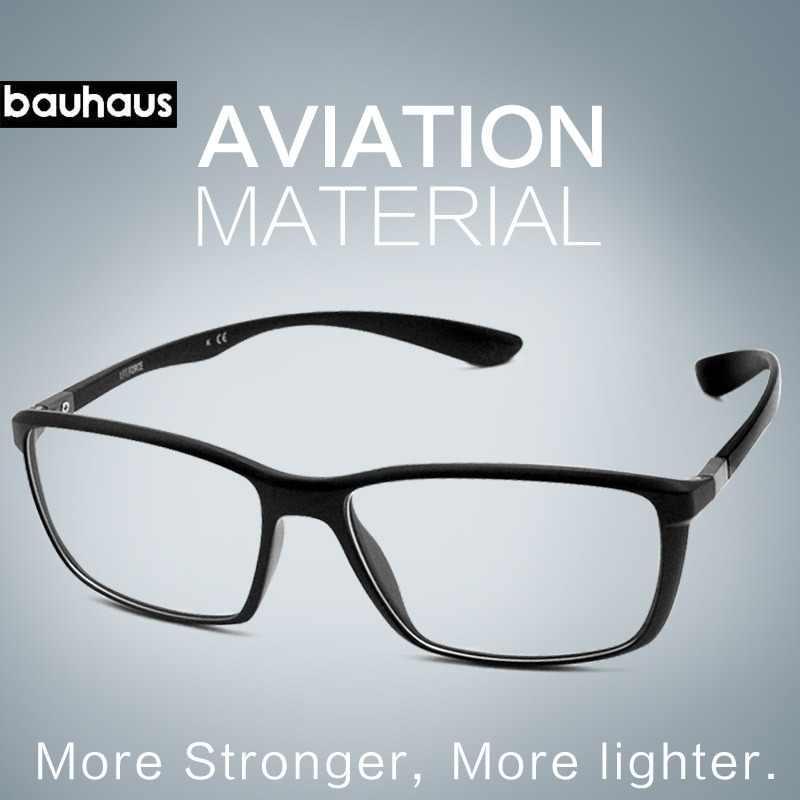 3911385f62 bauhaus brand Top Quality Ultem Glasses Frames Fashion colorful Optical Frame  for Women and Men square