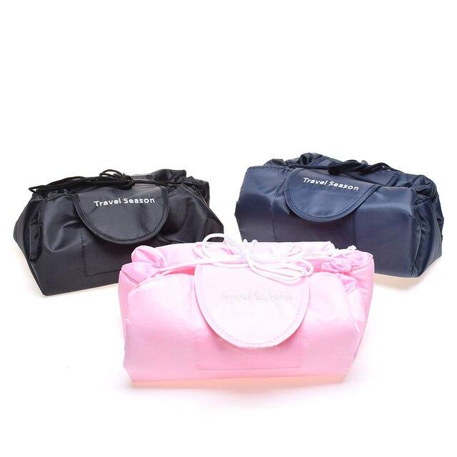 46128ac3ebc0 Cosmetic Bag Professional Drawstring Makeup Case Women Travel Make Up  Organizer Storage Pouch Toiletry Wash Kit
