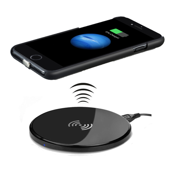 online store bd946 ce669 US $34.79 |Qi Wireless Charging Charger for iPhone 7/7 Plus,Including Qi  Charger Receiver Cover+Qi Wireless Charger Pad-in Wireless Chargers from ...