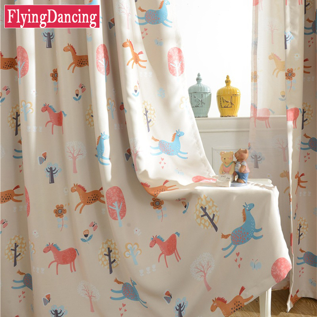 Children Cartoon Boys and Girls Bedroom Curtains Kids Living Room ...