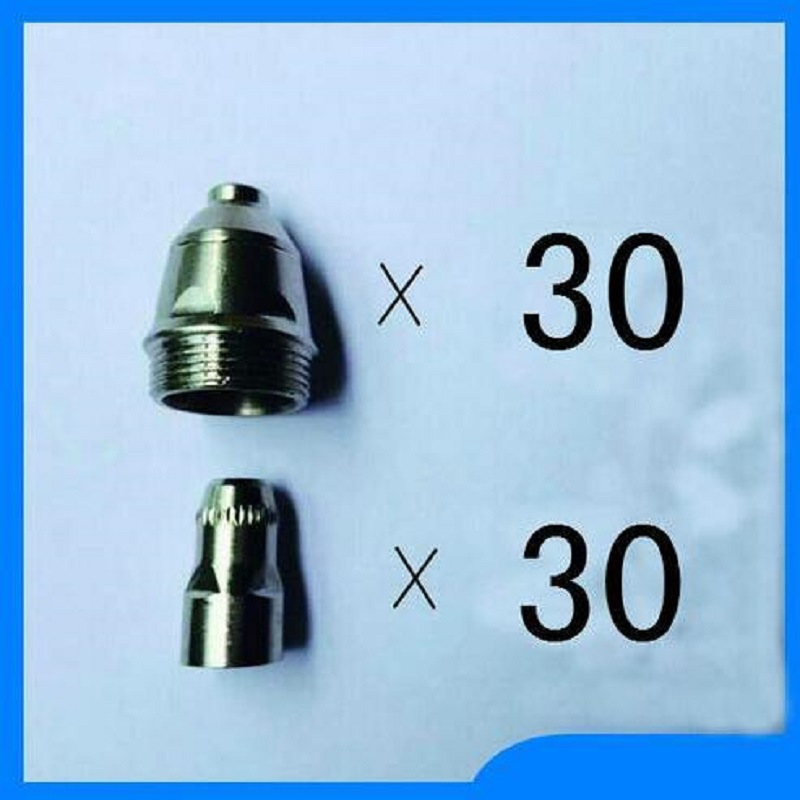 SALE 60 pcs Plasma Cutter Accesories P80 Torch Consumables Cutting Electrode/Tips Suitable 80A Plasma Cutting Gun Free Shipping free shipping p80 panasonic air plasma cutting cutter torch consumables plasma nozzles plasma tips electrode 60pk