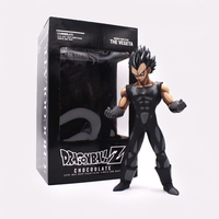 25cm Anime Dragon Ball Z Vegeta Chocolate Black PVC Cartoon Action Figure Movie TV Model Gift