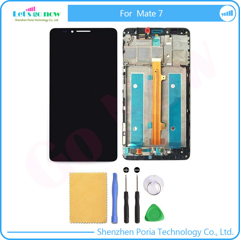 FLPORIA Full New For Huawei Mate 7 LCD Display And Touch Screen With Frame Assembly For Huawei Mate 7 Smart Phone Tools
